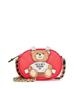 Moschino | Leather Shoulder Bag With Teddy Bear Patch Gr. One Size