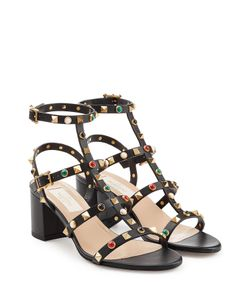 Valentino | Rockstud Rolling Leather Sandals Gr. It 40