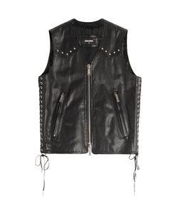 DSquared² | Leather Biker Vest Gr. 48