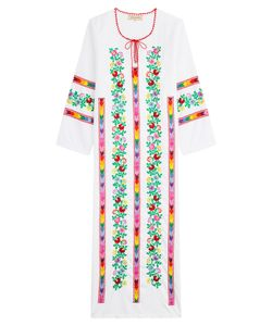 Muzungu Sisters | Embroidered Cotton Dress Gr. S