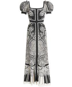 Alexander McQueen   Printed Silk Dress Gr. It 42