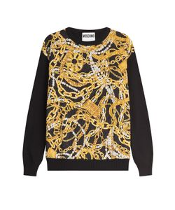 Moschino | Wool-Cashmere Printed Pullover Gr. 38