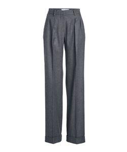 Max Mara   High-Waist Wool Pants With Pleats Gr. De 38