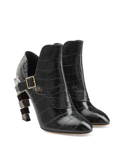 Salvatore Ferragamo | Embossed Leather Ankle Boots Gr. 65