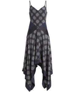 Diane von Furstenberg | Printed Silk Dress With Scarf Hemline Gr. Us 6