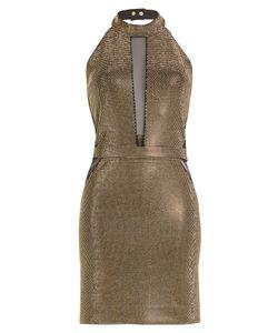 Balmain | Halterneck Lamé Dress Gr. Fr 36
