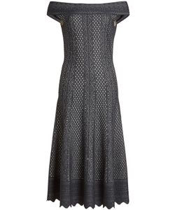 Alexander McQueen | Lace Off-Shoulder Dress With Silk Gr. S