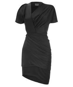 Halston | Cut-Out Shoulder Drape Dress Gr. 34