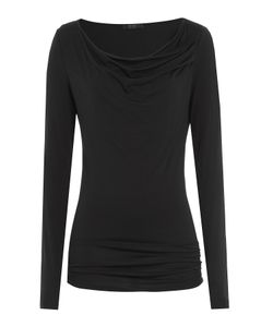 Donna Karan New York | Draped Jersey Top Gr. S