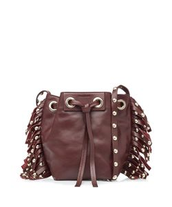 Vanessa Bruno   Leather Small Fringed Bucket Bag Gr. One Size