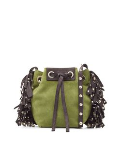 Vanessa Bruno   Leather-Suede Small Fringed Bucket Bag Gr. One Size