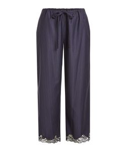 Alexander Wang | Virgin Wool Pinstriped Pants With Lace Gr. Us M