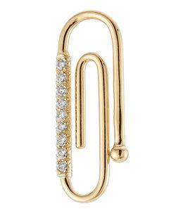 Aurelie Bidermann | 18kt Paper Clip Pendant With Diamonds Gr. One