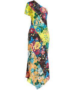 Diane von Furstenberg | Printed Silk Dress With Asymmetric Hem Gr. L