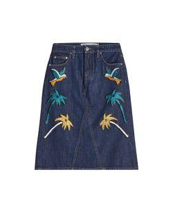 Victoria, Victoria Beckham | Embroidered Denim Skirt Gr. Uk 10