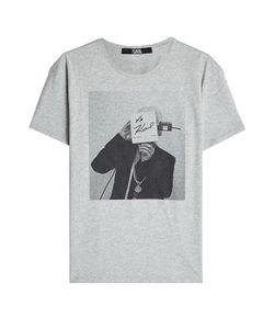 Karl Lagerfeld | Printed Cotton T-Shirt Gr. L