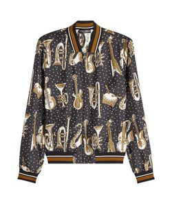 Dolce & Gabbana | Printed Silk Bomber Gr. Eu 50