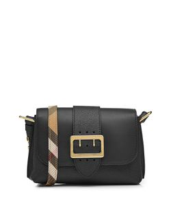 Burberry London | Leather Shoulder Bag With Buckle Detail Gr. One