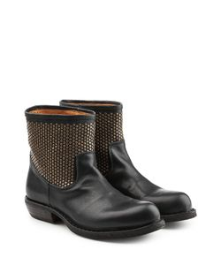 Fiorentini & Baker | Embellished Leather Ankle Boots Gr. It 36