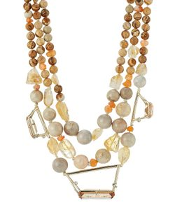 Alexis Bittar | Beaded Triple Strand 10k Necklace Gr. One Size