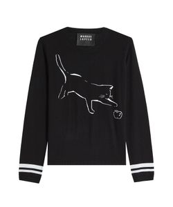 Markus Lupfer | Cat And Apple Merino Wool Pullover Gr. S