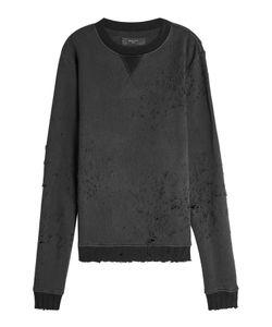 Amiri   Distressed Cotton Sweatshirt Gr. M