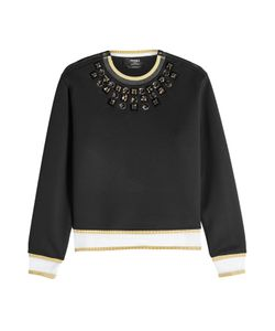 Fendi | Embellished Cotton Blend Sweatshirt Gr. It 44
