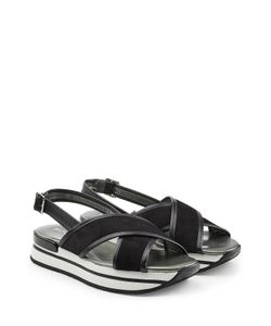 Hogan | Platform Sandals With Leather And Suede Gr. It 38