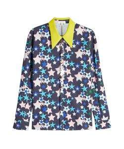 Delpozo | Printed Cotton Shirt With Embellishments Gr. Fr 40