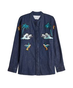 Victoria, Victoria Beckham | Embroidered Denim Shirt Gr. Uk 6