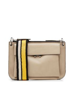 Marni | Leather Shoulder Bag With Fabric Strap Gr. One Size