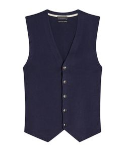 Baldessarini | Cotton Vest With Cashmere Gr. Eu 52
