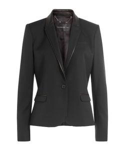 Barbara Bui | Wool Blazer With Leather Gr. Fr 40