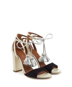 Malone Souliers | Gladys Suede And Leather Sandals With Tassels Gr. Eu 40
