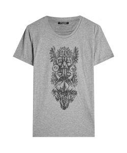 Balmain   Printed Cotton T-Shirt Gr. S