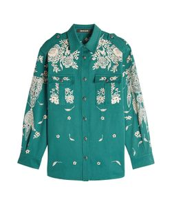Roberto Cavalli | Embroidered And Embellished Cotton Shirt Gr. It 42