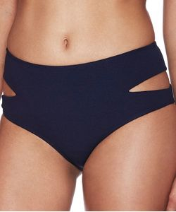 Beach Riot | Blair High Waist Bikini Bottom Color Navy Size Xs