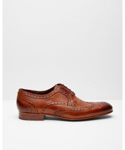 Ted Baker | Burnished Leather Derby Brogues Tan