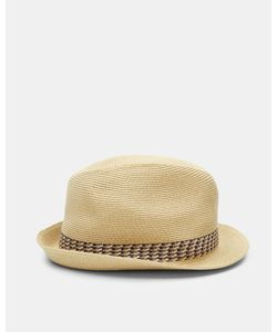 Ted Baker   Contrast Trim Trilby Hat Taupe