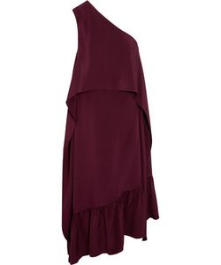 Tibi | Asymmetric Ruffled Silk Dress