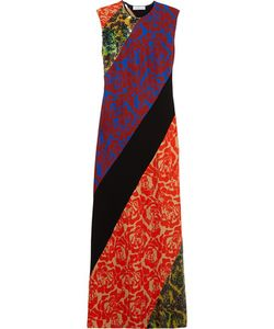 Jonathan Saunders | Renee Sequined Print Satin-Crepe Maxi Dress