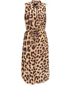 Equipment | Tegan Leopard-Print Washed-Silk Dress