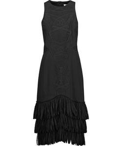 Jonathan Simkhai | Tulle-Trimmed Embroide Crepe Dress