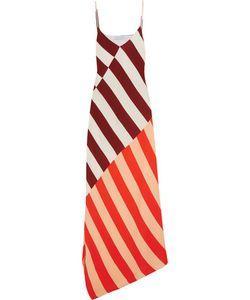Jonathan Saunders | Connie Asymmetric Striped Crepe Maxi Dress