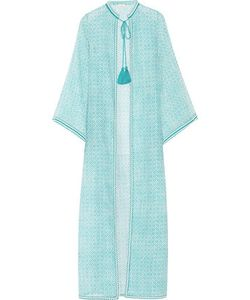 Talitha | Fatima Embroidered Printed Cotton And Silk-Blend Kaftan