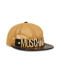 Moschino | Leather-Trimmed Mesh Cap