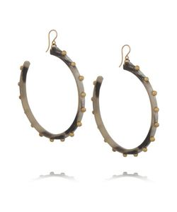 Ashley Pittman | Duara Horn And Gold-Tone Earrings