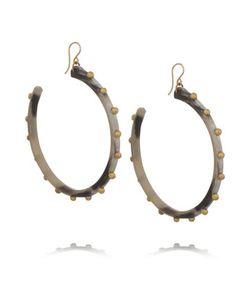 Ashley Pittman | Duara Horn And Gold-Tone Earrings