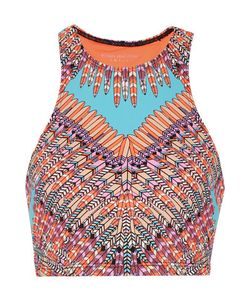 Mara Hoffman | Printed Neon Stretch-Jersey Top