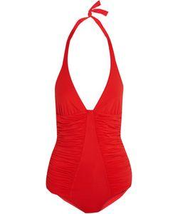 Melissa Odabash | Ischia Ruched Halterneck Swimsuit